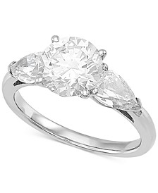 Lab Grown Diamond Three Stone Engagement Ring (3 ct. t.w.) in 14k White Gold
