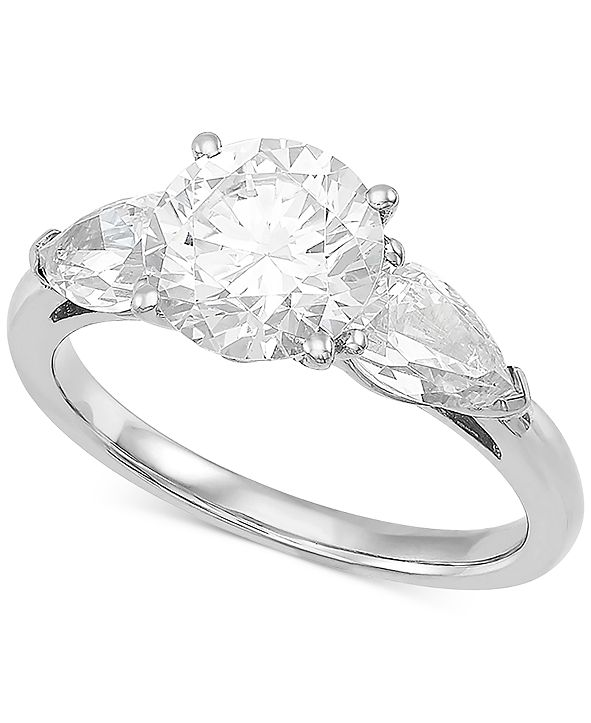 Grown With Love Lab Grown Diamond Three Stone Engagement Ring (3 ct. t.w.) in 14k White Gold