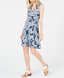 Tommy Hilfiger Paisley Wrap Dress, Created for Macy's