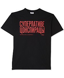 WeSC Men's Retro Fit Mason Cyrillic Graphic T-Shirt