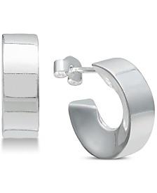 Giani Bernini Angled Huggie Hoop Earrings in Sterling Silver, Created for Macy's