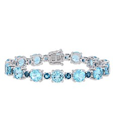 Blue Topaz (37-1/10 ct. t.w.) Tennis Bracelet in Sterling Silver(Also Available In Citrine and Pink Amethyst)