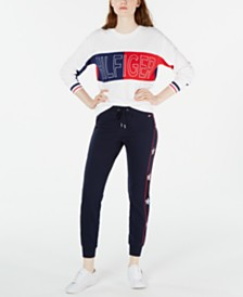 Tommy Hilfiger Crewneck Top and  Navy Jogger Pants