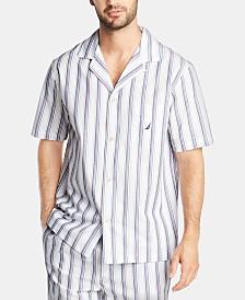 Nautica Men's Cotton Striped Pajama Shirt