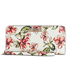 GUESS Tiggy Floral Zip-Around Wallet