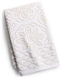 "CLOSEOUT! Rosa Floral Medallion Sculpted Cotton 16"" x 28"" Hand Towel, Created for Macy's"