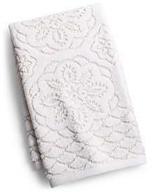 """Westpoint Rosa Floral Medallion Sculpted Cotton 16"""" x 28"""" Hand Towel, Created for Macy's"""