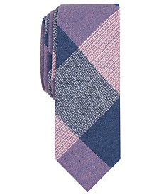 Original Penguin Men's Olan Plaid Skinny Tie