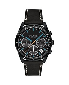 Men's Thompson Leather Strap Watch, 41MM