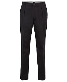 BOSS Men's Kirio-Pleats-P Relaxed-Fit Gabardine Trousers