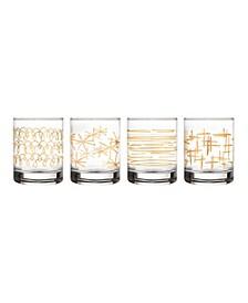 Festive Old Fashion Glasses - Set of 4