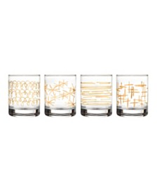 Jay Imports Festive Old Fashion Glasses - Set of 4