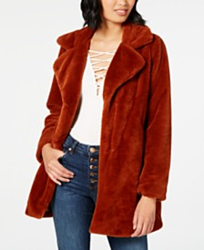 CoffeeShop Juniors' Faux-Fur Coat