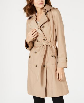 London Fog Girls Double Breasted Belted Trench Coat