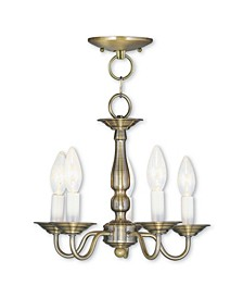 Williamsburgh 5-Light Convertible Mini Chandelier/Ceiling Mount
