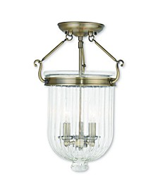 """CLOSEOUT!   Coventry 3-Light 17"""" Ceiling Mount"""