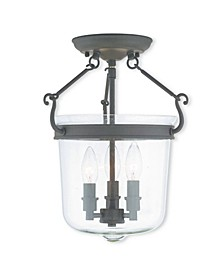 "CLOSEOUT!   Rockford 3-Light 14.75"" Ceiling Mount"