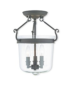 """CLOSEOUT! Livex   Rockford 3-Light 14.75"""" Ceiling Mount"""