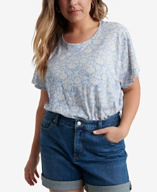 Lucky Brand Plus Size Cotton Printed T-Shirt
