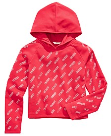 GUESS Big Girls Logo-Print Hooded Top
