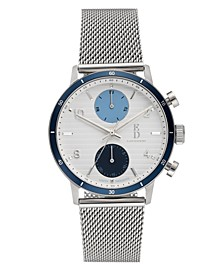 Ellen Degeneres Women's Silver Stainless Steel Bracelet Watch 38mm
