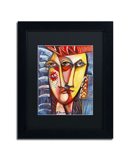 "Trademark Global Echemerdia 'Man with Red Hat' Matted Framed Art Framed Art - 14"" x 11"""