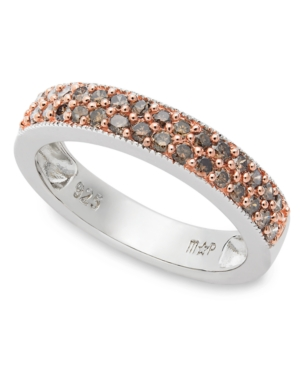 Sterling Silver Ring, Champagne Diamond Stackable Ring (1/2 ct. t.w.)