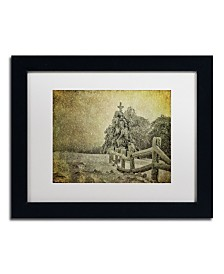 "Lois Bryan 'Oh Christmas Tree in Snow' Matted Framed Art - 11"" x 14"""