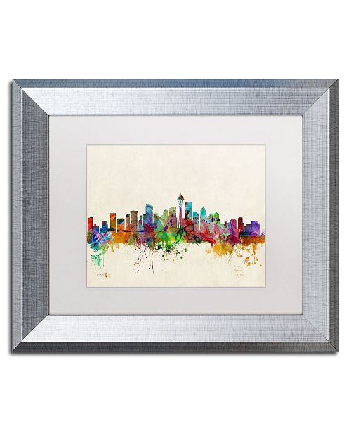 "Trademark Global Michael Tompsett 'Seattle WA' Matted Framed Art - 11"" x 14"""