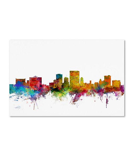 "Trademark Global Michael Tompsett 'El Paso Texas Skyline' Canvas Art - 12"" x 19"""