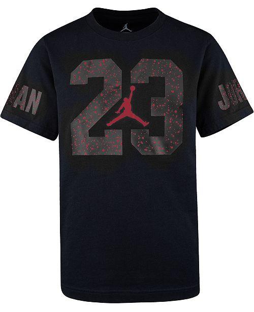 Jordan Big Boys Speckled-Print 23 Cotton T-Shirt