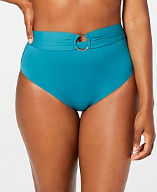 Bar III Sunset Solids Ring High-Waist Bottoms, Created for Macy's