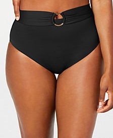 Sunset Solids Ring High-Waist Bottoms, Created for Macy's
