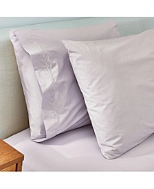 Washed Percale King Pillow Case Pair
