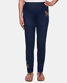 Lake Tahoe Embroidered Pull-On Jeans