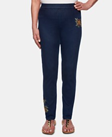 Alfred Dunner Lake Tahoe Embroidered Pull-On Jeans