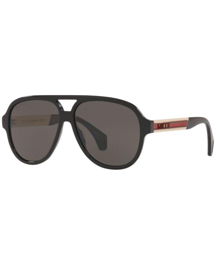 Gucci Sunglasses, GG0463S 58 & Reviews - Sunglasses by Sunglass Hut - Men - Macy's