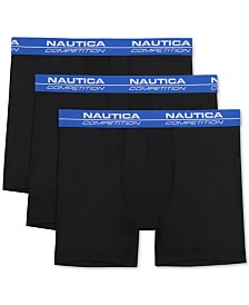 Nautica Men's 3-Pk. Competition Boxer Briefs
