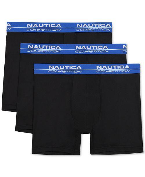 Nautica Men's 3-Pk. Competition Boxer Briefs