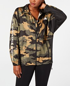 The North Face Logo-Print Windbreaker Jacket