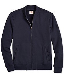 Brooks Brothers Men's Red Fleece Knit French Terry Bomber Jacket