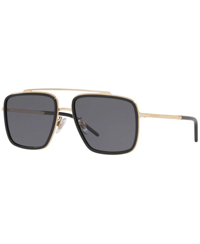 Dolce & Gabbana Polarized Sunglasses, DG2220 57 & Reviews - Sunglasses by Sunglass Hut - Men - Macy's