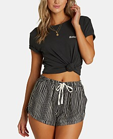 Billabong Juniors' Striped Drawstring Shorts