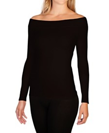 skinnytees Long Sleeve Boatneck