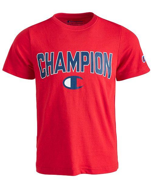 Champion Little Boys Varsity Logo-Print T-Shirt