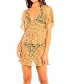 Jordan Taylor Metallic V-Neck Dress