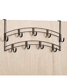 Lynk Over Door 9 Hook Organizer Rack