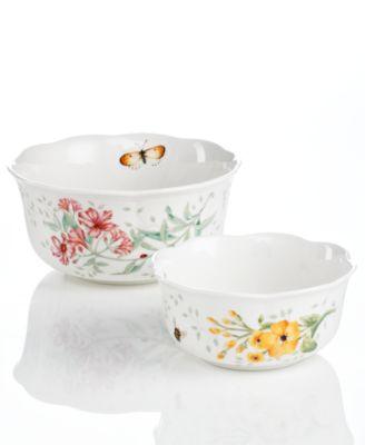 Dinnerware, Set of 2 Butterfly Meadow Nesting Bowls