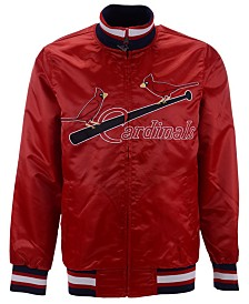 Starter Men's St. Louis Cardinals Captain Coop Satin Jacket