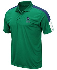 Colosseum Men's Notre Dame Fighting Irish Color Block Polo